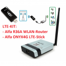 KIT Alfa R36A WLAN Router und ONYX4G LTE-Stick...