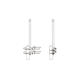 Alfa AOA-4G-8M 4G 3G LTE UMTS GSM outdoor 8dbi Antenna with N-Type Connector and Mast Support