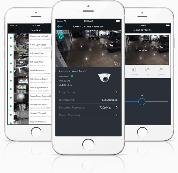 Ubiquiti Unifi UVC Micro mobile Monitoring by App