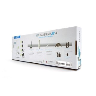 Alfa WiFi CAMP Pro 2 v2 WLAN Range Extender Kit (Alfa R36A + Tube-UNA + 9dBi antenna) + german manual!