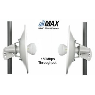 Ubiquiti NanoBeam M2 WLAN-Bridge NBE-M2-400 2,4GHz 18dBi antenna 2x2 MIMO AirMax WLAN-Bridge