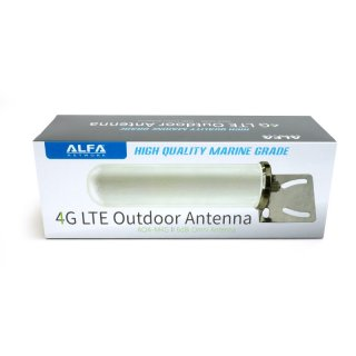 Alfa AOA-M4G 4G/LTE and wifi marine outdoor Antenna with 6dBi and mast bracket
