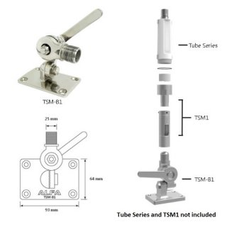 Alfa Network TSM-B1 Stainless Steel Stand for Tube Series (Marine Mount)