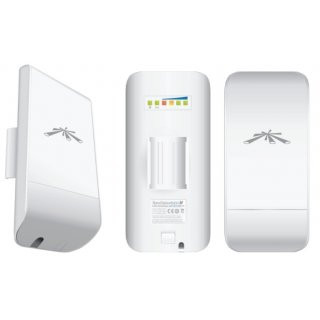 Ubiquiti NanoStation loco M2 WLAN-Bridge 2,4GHz 8dBi Antenne 2x2 MIMO AirMax TDMA Station