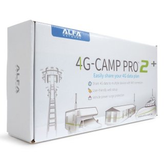 Alfa 4G Camp Pro 2+ KIT LTE Range Extender Kit (Alfa R36AH + Tube-U4Gv2 + 4G antenna) + german manual!