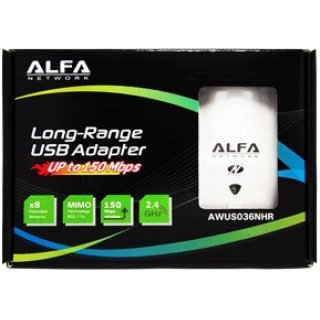 Alfa Network AWUS036NHR USB 2.0 Highpower WLAN Adapter inkl 5dBi Antenne (Realtek RTL8188RU)