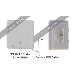 ARC Wireless FlexUSB 5 (ARC-AF-FU5) Outdoor USB-Powered CPE 5GHz